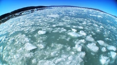 Wide Angle of Frozen Sea Ice Stock Footage