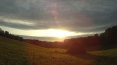 Rural dawn Stock Footage