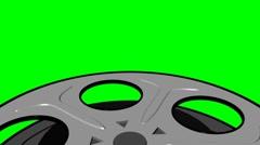 Green Screen Film Reel Looping Element Stock Footage