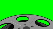 Stock Video Footage of Green Screen Film Reel Looping Element
