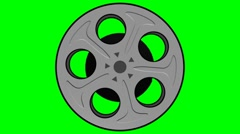 Film Reel Looping Green Screen Element Stock Footage