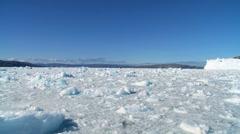 Glacier Ice Formations in a Frozen Sea  Stock Footage