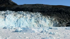 Ice Glacier on a Sea of Frozen Ice Stock Footage