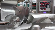 Manufacturing equipment. Cutter Stock Footage