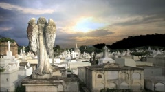 Grave sunset Stock Footage