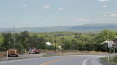 Stock Footage - Appalachian Mountains Hwy 30 - winding road Stock Footage