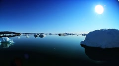 Drift Ice as a Product of Climate Change Stock Footage