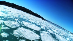 Low Angle View of Sea Ice Stock Footage