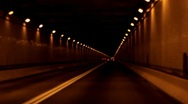 Stock Footage - Driving through tunnel in Appalachian Mountains Stock Footage