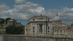 St Peters & Tiber bank - stock footage