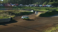 Stock Video Footage of Folkrace (autocross), pan