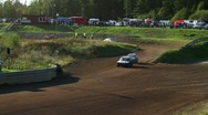 Car crash, accident in a folkrace (autocross) Stock Footage