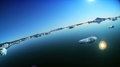 Drift Ice Broken from Nearby Glacier - stock footage