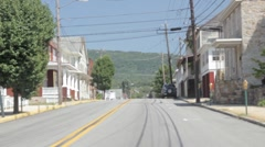 Stock Footage - Driving through a small town in the Mountains # 2 Stock Footage
