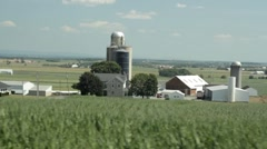 Stock Footage - Moving Vehicle - Ohio Dairy Farm - stock footage