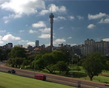 Timelapse of Jo'burg Tower and the Johannesburg Skyline GFTSD - stock footage
