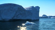 Stock Video Footage of Iceberg Adrift in the Arctic