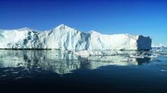 Large Iceberg Broken From Glacier - stock footage