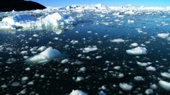 Drifting by Icebergs Broken from Glaciers Stock Footage