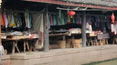 Traditional Chinese Town by River Stock Footage