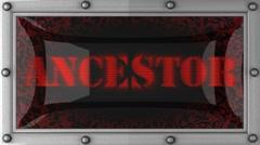 Ancestor on led Stock Footage