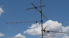 Stock Video Footage of TV antennas time lapse 5