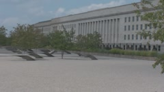 Stock Footage - Pentagon - 9/11 memorial - Reflecting pools Stock Footage