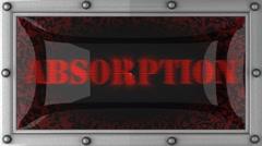 absorption on led - stock footage