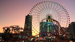 Yokohama City Ferris wheel. Stock Footage