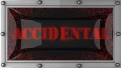 Accidental on led Stock Footage