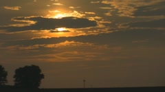 Stock Footage - Moving Vehicle -  Golden Sunset on the highway Stock Footage