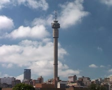Timelapse of Jo'burg Tower with Clouds Passing Behind, Johannesburg GFTSD - stock footage