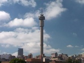 Timelapse of Jo'burg Tower with Clouds Passing Behind, Johannesburg GFTSD Stock Footage
