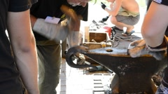 "International festival of forge art ""Park of Forge Figures - 2011"" - stock footage"