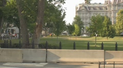 Stock Footage - Capitol Police on high alert - Armed with machine gun - Park Stock Footage