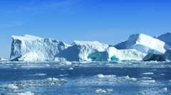Iceberg Adrift in the Arctic  - stock footage