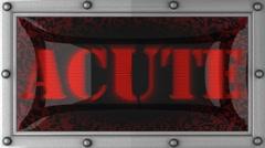 Acute on led Stock Footage