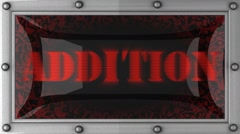 Addition on led Stock Footage