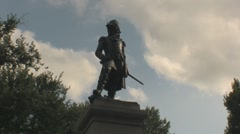 Stock Footage - Lafayette Square - Washington DC - Staue Stock Footage