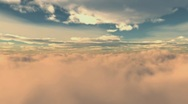 AMAZING FLYING THROUGH THE CLOUDS Stock Footage