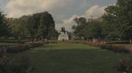 Stock Footage - Wide shot of Lafyette Square, Andrew Jackson on Horseback Stock Footage