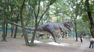 Stock Video Footage of Exhibition of dinosaurs. Allosaurus