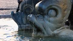 Rome Fontana del Tritone at Piazza Barberini square Stock Footage