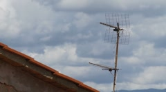 TV antennas in the roof time lapse 3 Stock Footage