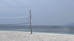 Beach volley playground Stock Footage