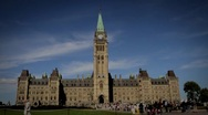 Stock Video Footage of Canadian Parliament in Summer