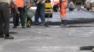 Stock Video Footage of Work On Laying Asphalt Timelapse 6