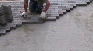 Stock Video Footage of Laying Pavers Timelapse 2