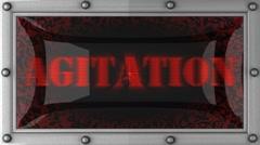agitation on led - stock footage