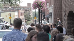 Stock Footage - Georgetown Cupcakes  - D.C. Cupcakes  Store - line outside Stock Footage